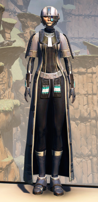 X-3 Techmaster Armor Set Outfit from Star Wars: The Old Republic.