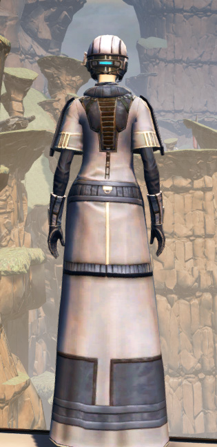 X-3 Techmaster Armor Set player-view from Star Wars: The Old Republic.