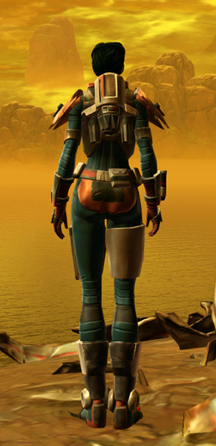 Xonolite Asylum Armor Set player-view from Star Wars: The Old Republic.