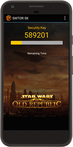 SWTOR Security key app