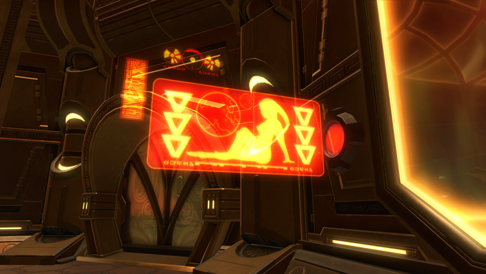 SWTOR Holo Sign: Lounging Dancer