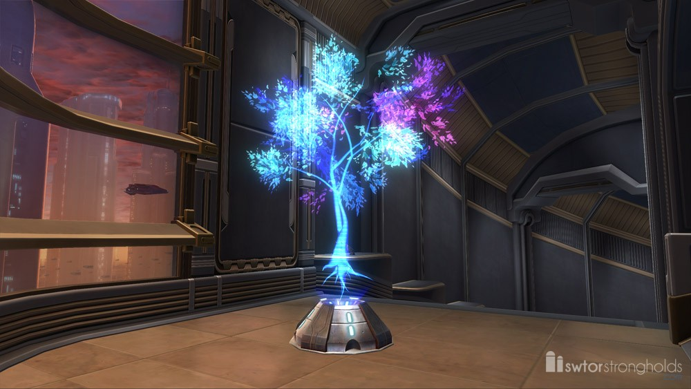 Holographic Tree Blue Decoration SWTOR Strongholds
