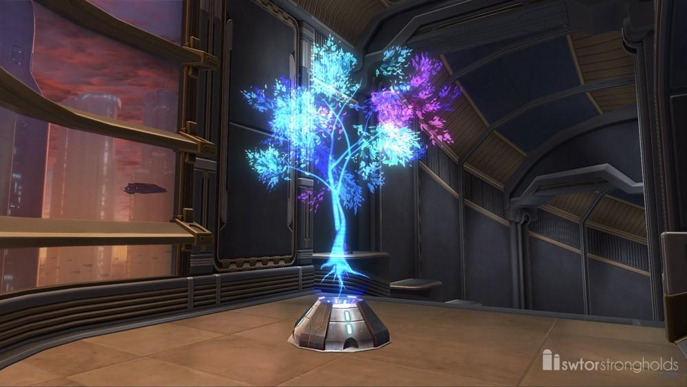Holographic Tree (Blue)