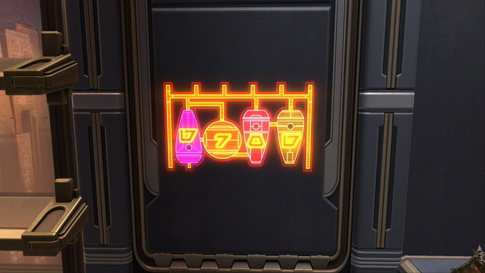 SWTOR Holo Sign: Pirate Grog