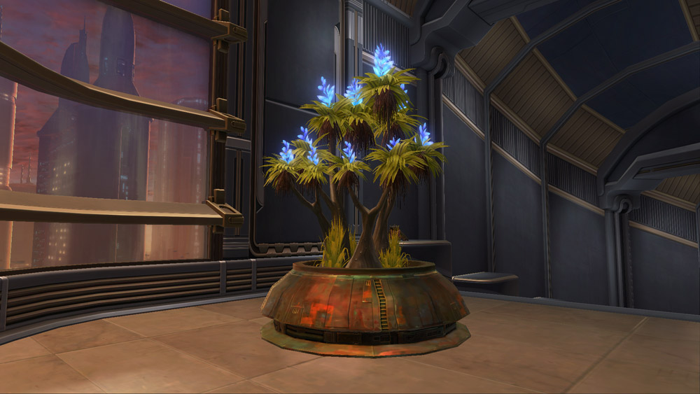 SWTOR Planter: Rishi Tree (Blue)