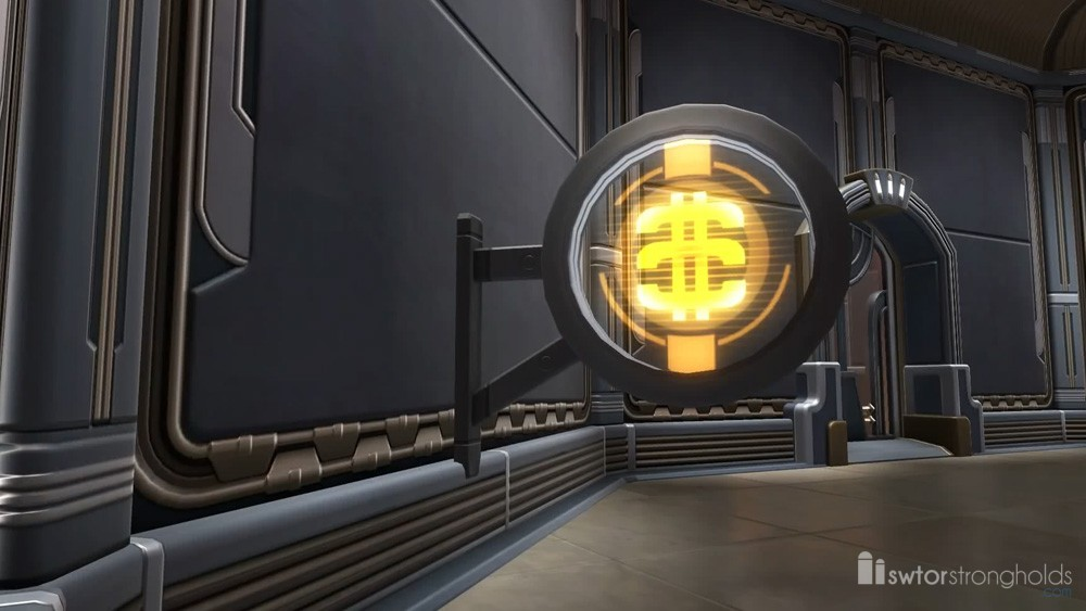 Circular Sign: Cartel Coin Decoration | SWTOR Strongholds