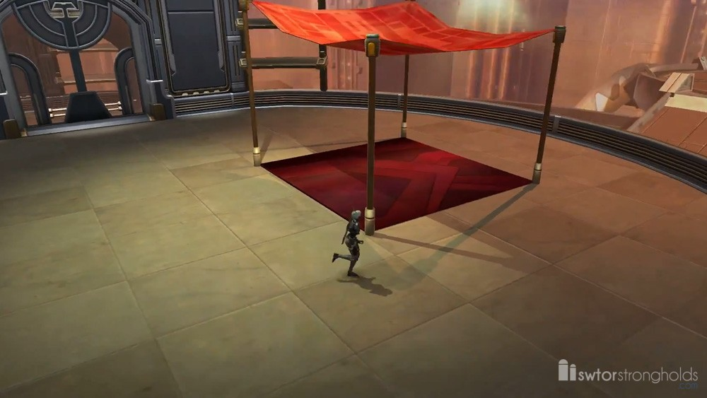 Market Canopy (Red) Decoration | SWTOR Strongholds