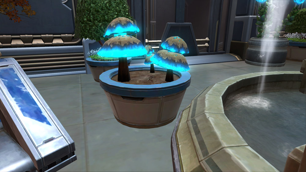 SWTOR Potted Plant: Luminescent Mushrooms (Blue)
