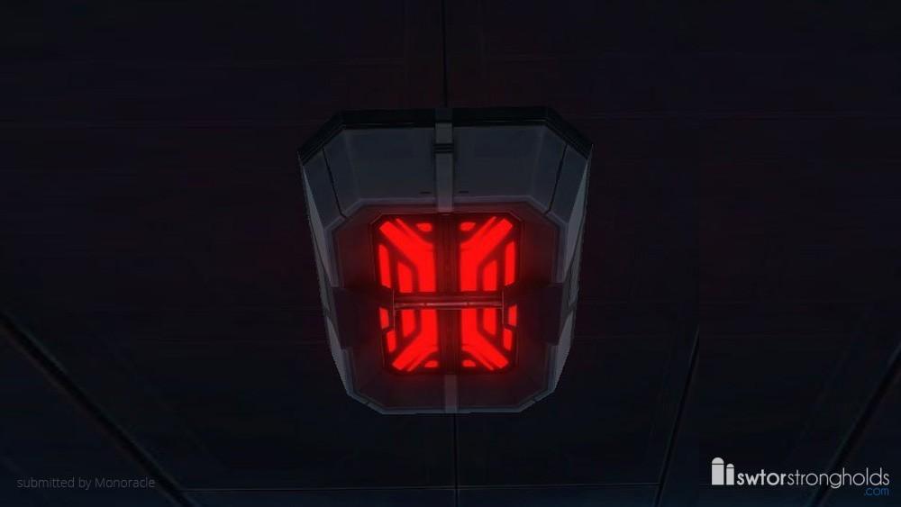 Emergency Ceiling Light (Red)
