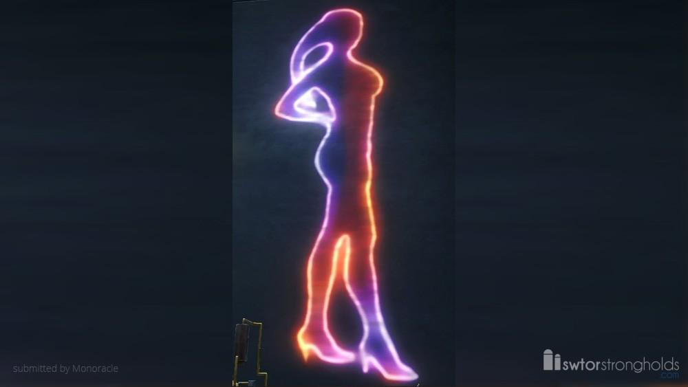 Holo Sign: Cantina Dancer