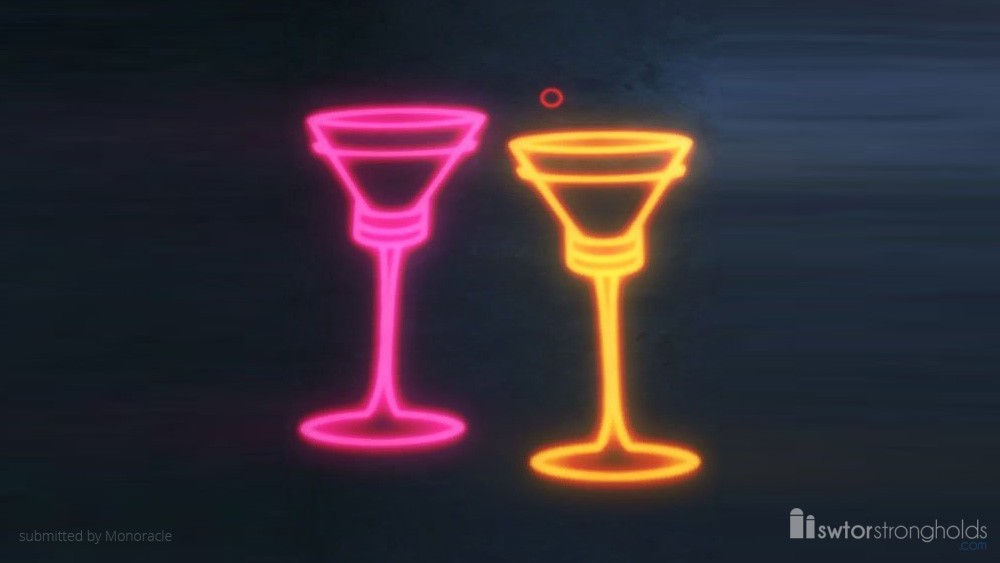 SWTOR Holo Sign: Champagne Glasses