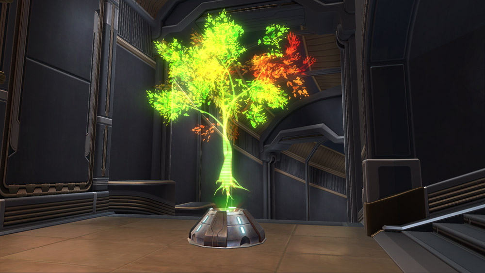 Holographic Tree Green Decoration Swtor Strongholds