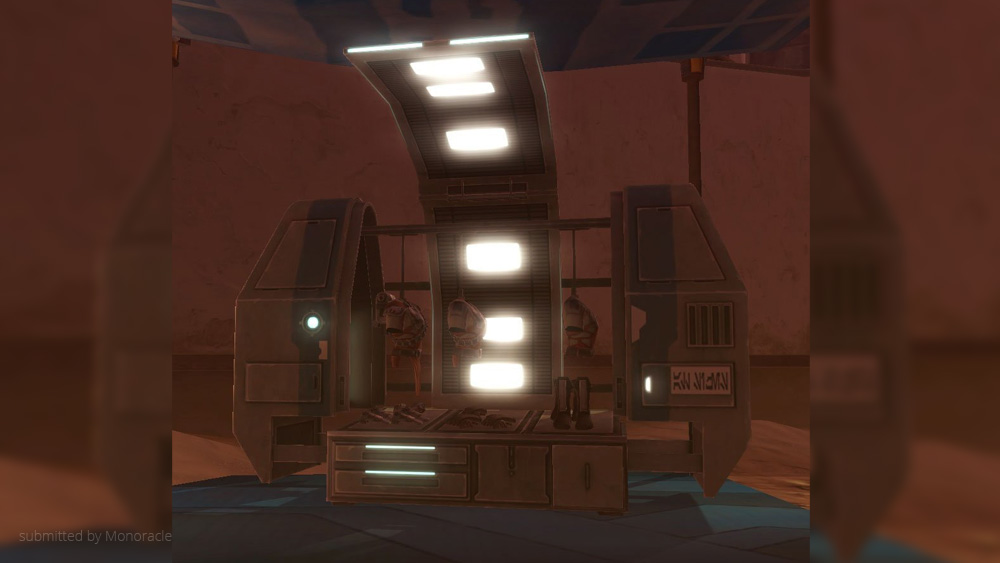Merchant stall armor decoration swtor strongholds for Armor decoration