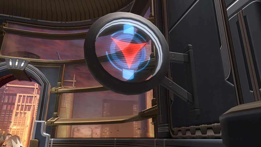 SWTOR Circular Sign: Dark Side