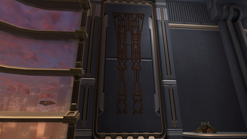 Yavin Temple Metal Banner