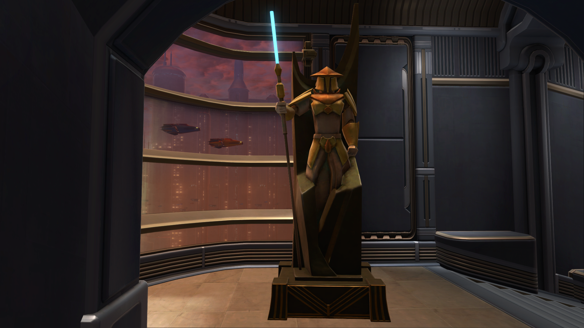 Zakuul Knight Statue Decoration Swtor Strongholds