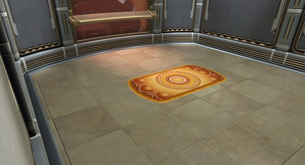 SWTOR Luxurious Rug (Gold)