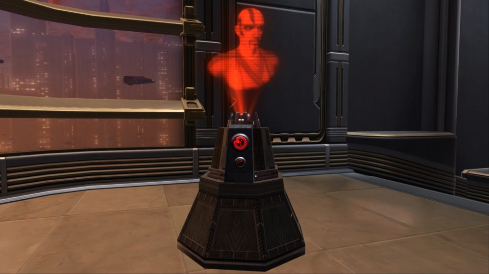 SWTOR Sith Inquisitor Memorial Holoprojector
