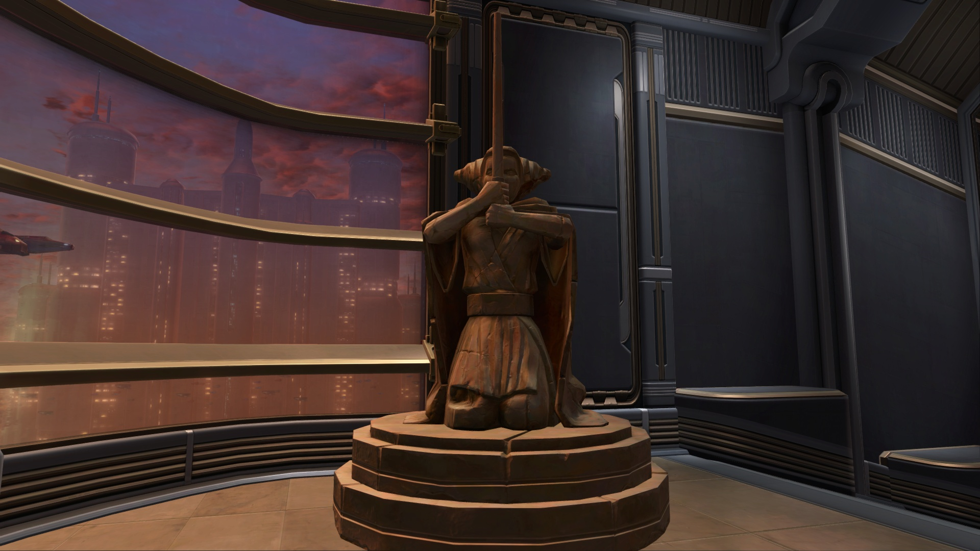 Statue Of An Ancient Jedi Decoration Swtor Strongholds