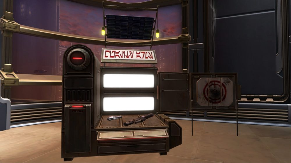 SWTOR Weapon Stand
