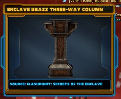 Enclave Brass Three-Way Column