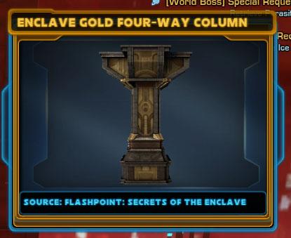 Enclave Gold Four-Way Column