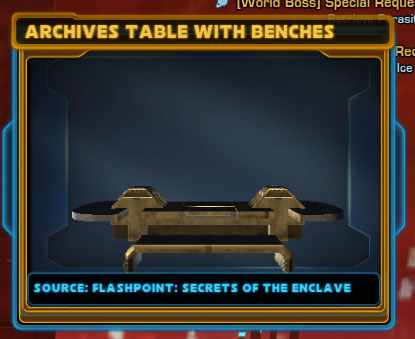 Archives Table with Benches