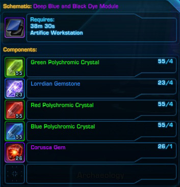 swtor reputation dye modules guide and schematics