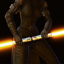 Dark Stalker Double-bladed Lightsaber Armor Set armor thumbnail.
