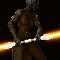 Dark Zealot's Double-bladed Lightsaber Armor Set armor thumbnail.