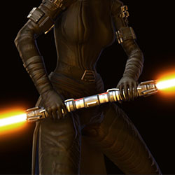 Assassin's Double Bladed Lightsaber Armor Set armor thumbnail.